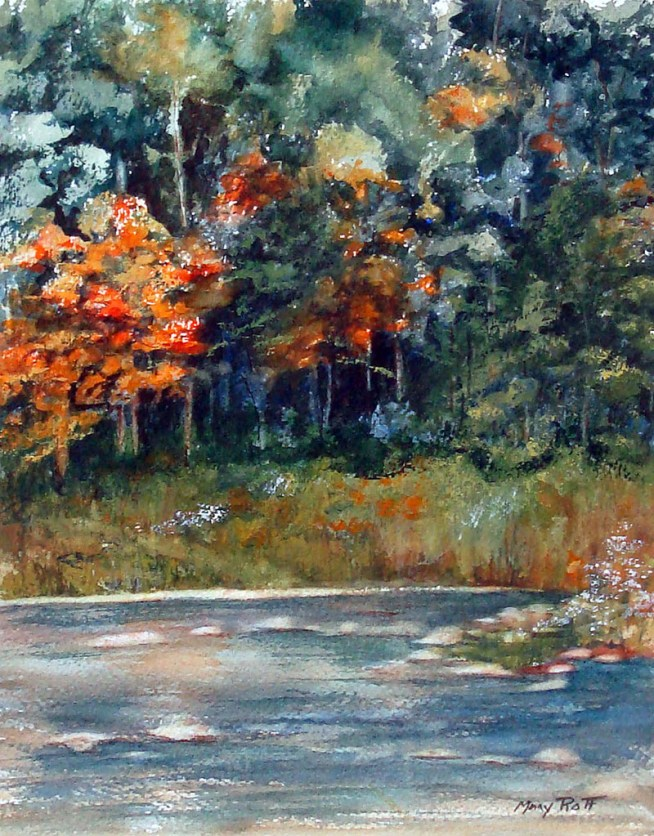 Elma Watercolor Painting By Mary Roff