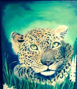 Acrylic … Leo Leopard . IMG_1376