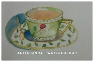 Day 15 – Best drink ever – hot Assam tea. #doodlewashMarch2019 #WorldWatercolorGroup #an