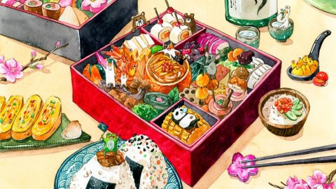Osechi Illustration by Jiaqi He (PenelopeLovePrints) - Doodlewash