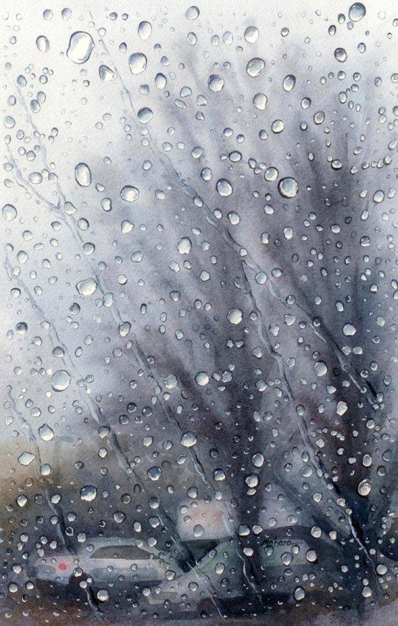 Rain Watercolor Painting by Mohana Pradhan - Doodlewash