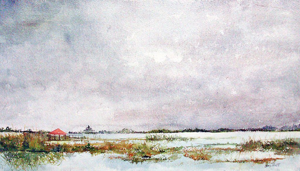 Sebring Watercolor Painting By Mary Roff