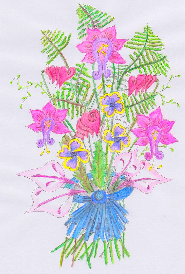 a flowerbouquet to chere up all the people that are longing for spring springflowers