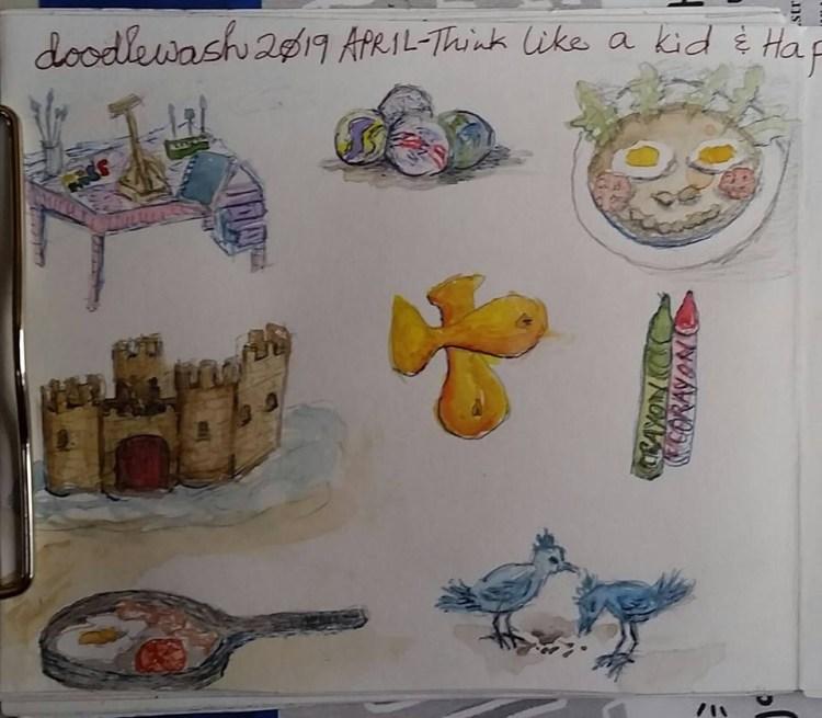 #doodlewashApril2019 Day 1 through 8 2019 April 1 – 8