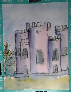 Scottish castle… kinda, sorta, okay not really… I looked up reference images of castle l