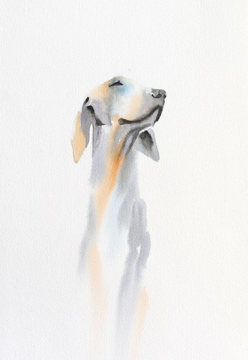 Dog Watercolor Painting by Shyam Kumar - Doodlewash