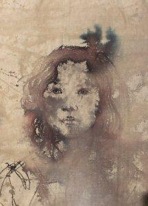 Waterwash Portrait. Washable black pen on canvas 40×50 D248CAD4-B2C2-47FB-B9C8-7DF30E7CDC5C