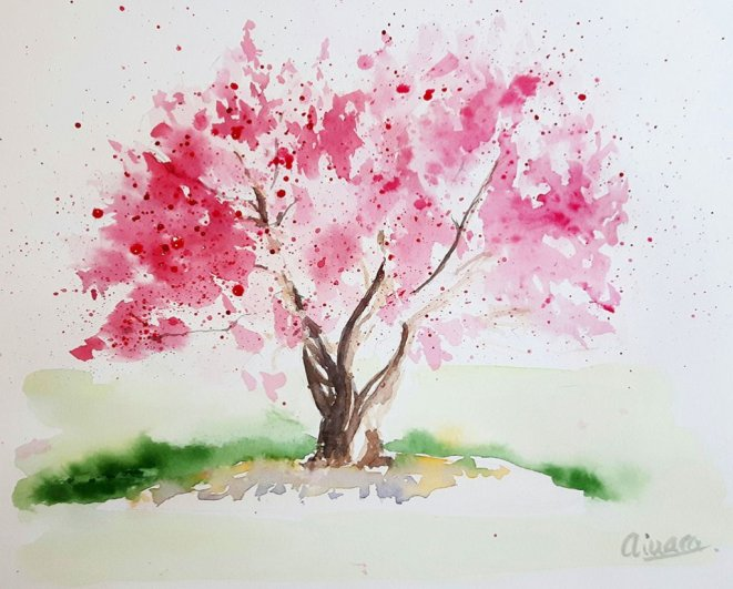 Watercolor Painting by Ainara Martin