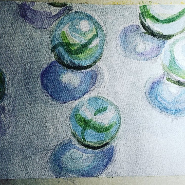 marbles for the other day. slowly getting current and maybe better at watercolor?! IMG_20190417_1225