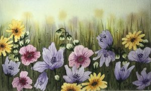 """""""Glory Days""""… Daniel Smith Watercolors on Arches Paper… 5.5″ x 8.5&#82"""