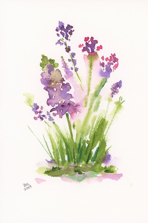 Spring Bouquet Watercolor Painting by Bette-Ann LaBerge