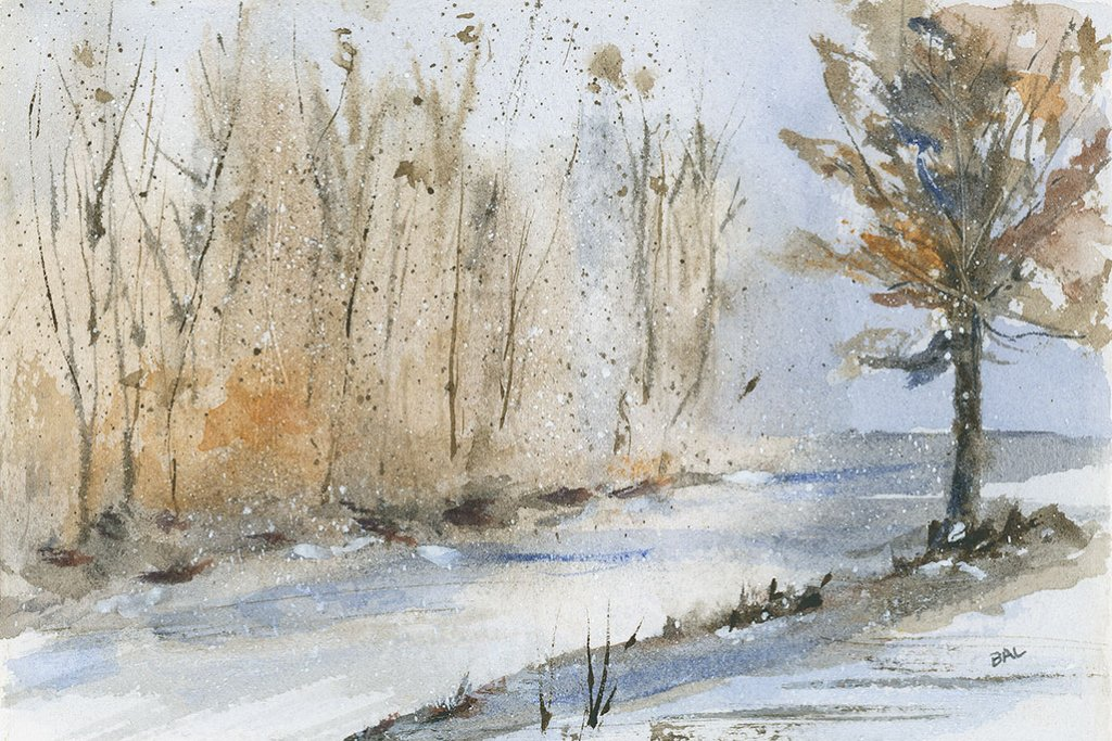Winter Coming Watercolor Painting by Bette-Ann LaBerge