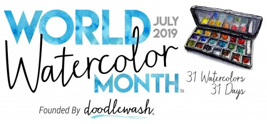 World Watercolor Month July 2019 Full Banner