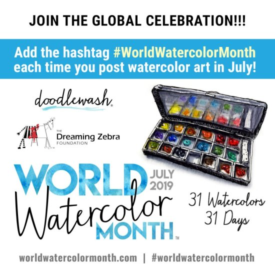 World Watercolor Month REMINDER 2019