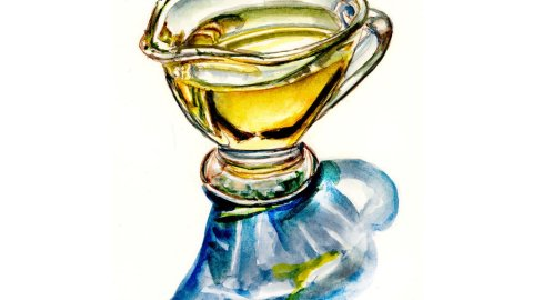 Day 22 - Olive Oil Watercolor Illustration