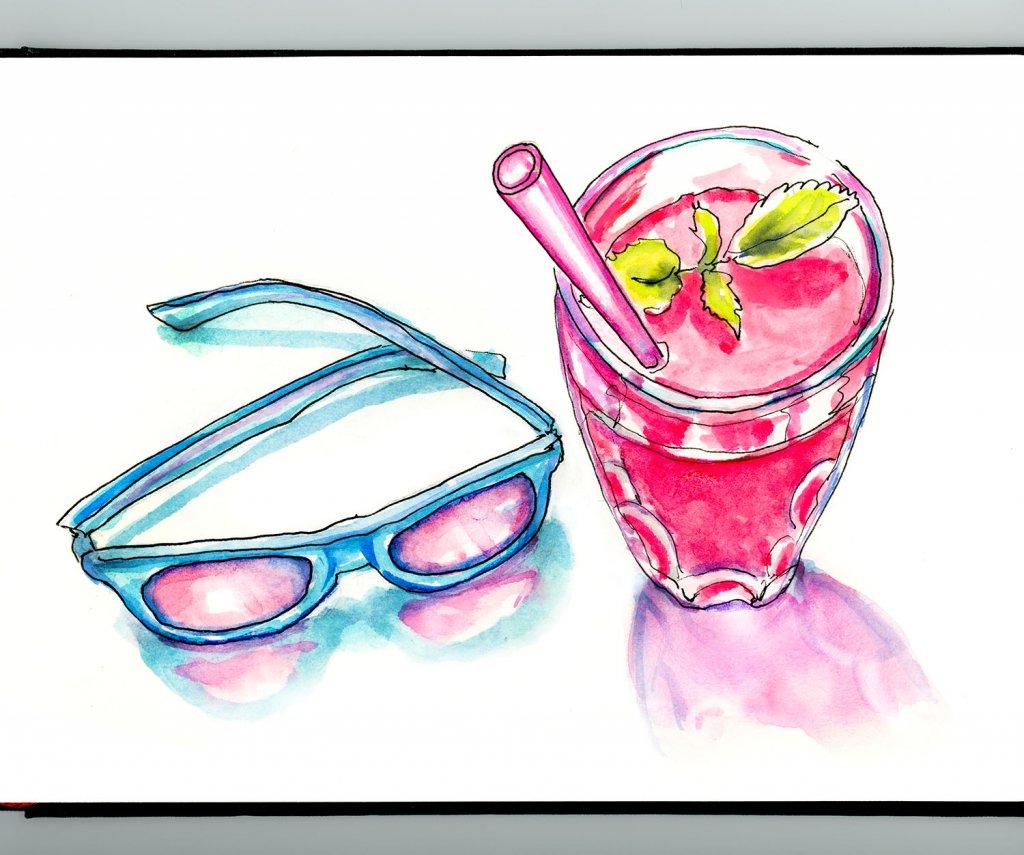 Day 24 - Rose Colored Glasses Illustration_IG