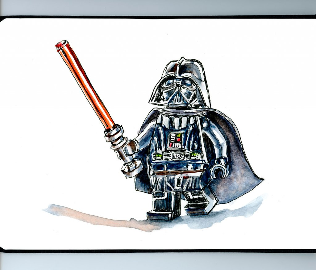 Day 4 - Lego Star Wars Minifigure Illustration - Doodlewash