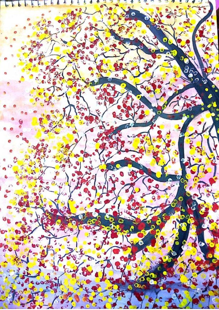 #WaterColorPainting#SpringSeasonRepresentation#ArtWork#doodleWashChallenge#May2019 IMG-20190505-WA00