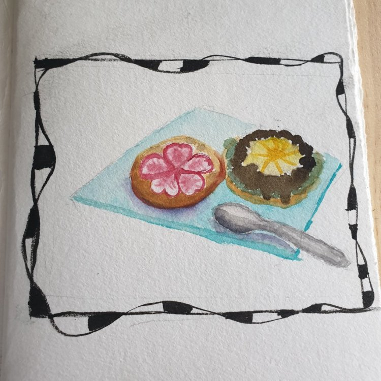 combining a few prompts in 1. We had a dessert burger which was absolutely wonderful. Brownie points