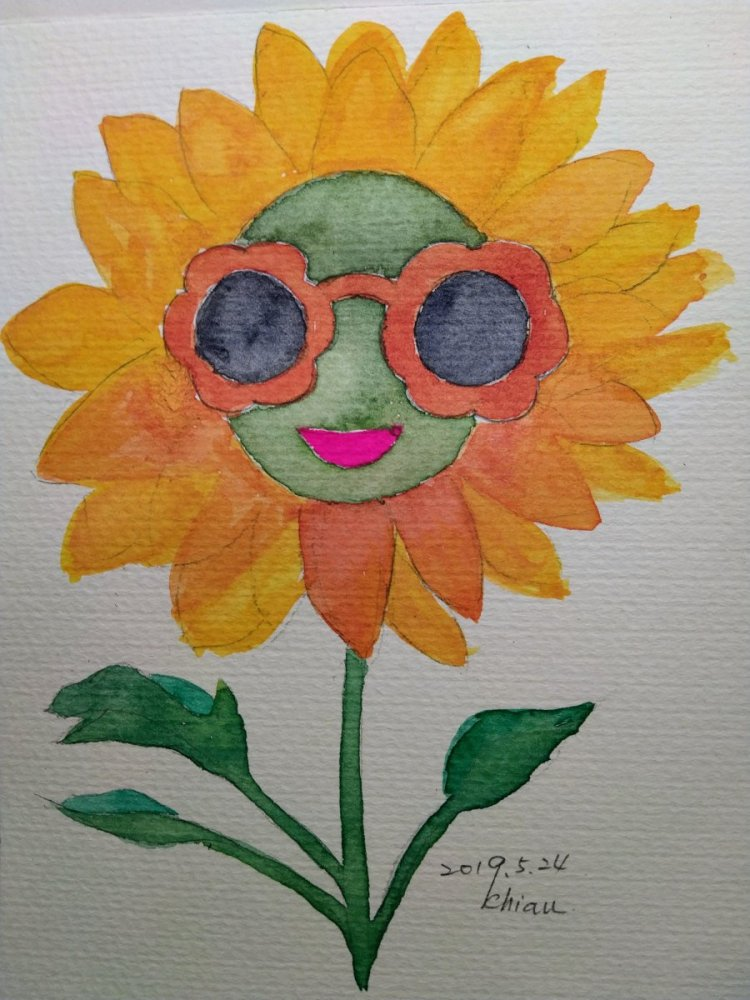 Sunflower For today's prompt:Rose Colored Glasses. IMG_20190524_234408