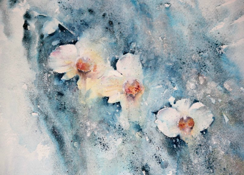 Jean Haines Orchids Painting Example