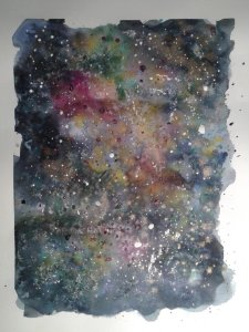 Either a very colorful galaxy… Or a very strange abstract. Then again, perhaps galaxies are Mo