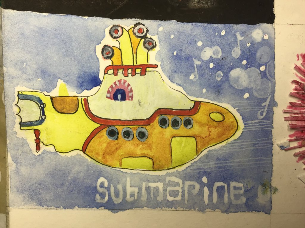 """We all live in a yellow submarine for the doodlewash May 2019 prompt """"yellow submarine """" 5427412"""