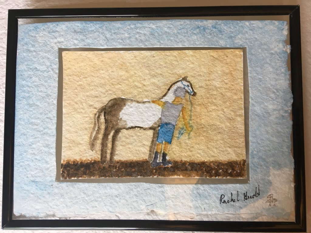 Here it is matted and framed… The matt is just more water color paper… AC2CA1CC-F3C9-4CC