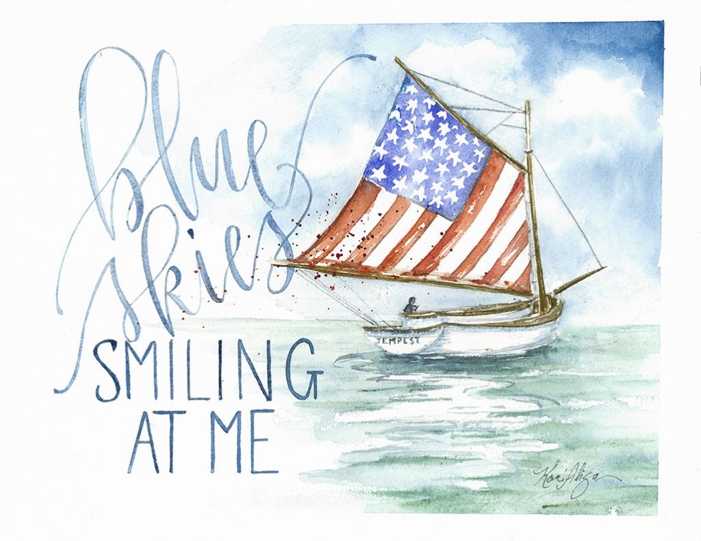 Boat Painting by Kari Alisa Watson - Doodlewash