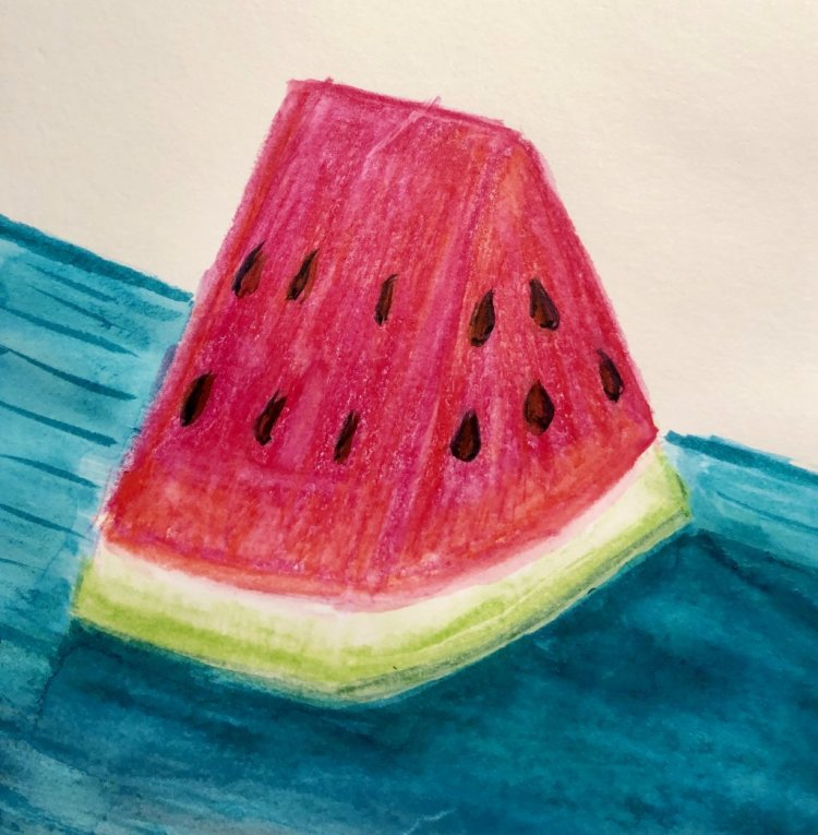 #doodlewashJune2019 #FunintheSunWatercolorChallenge2019 Day 13: Watermelon Going in early tomorrow f