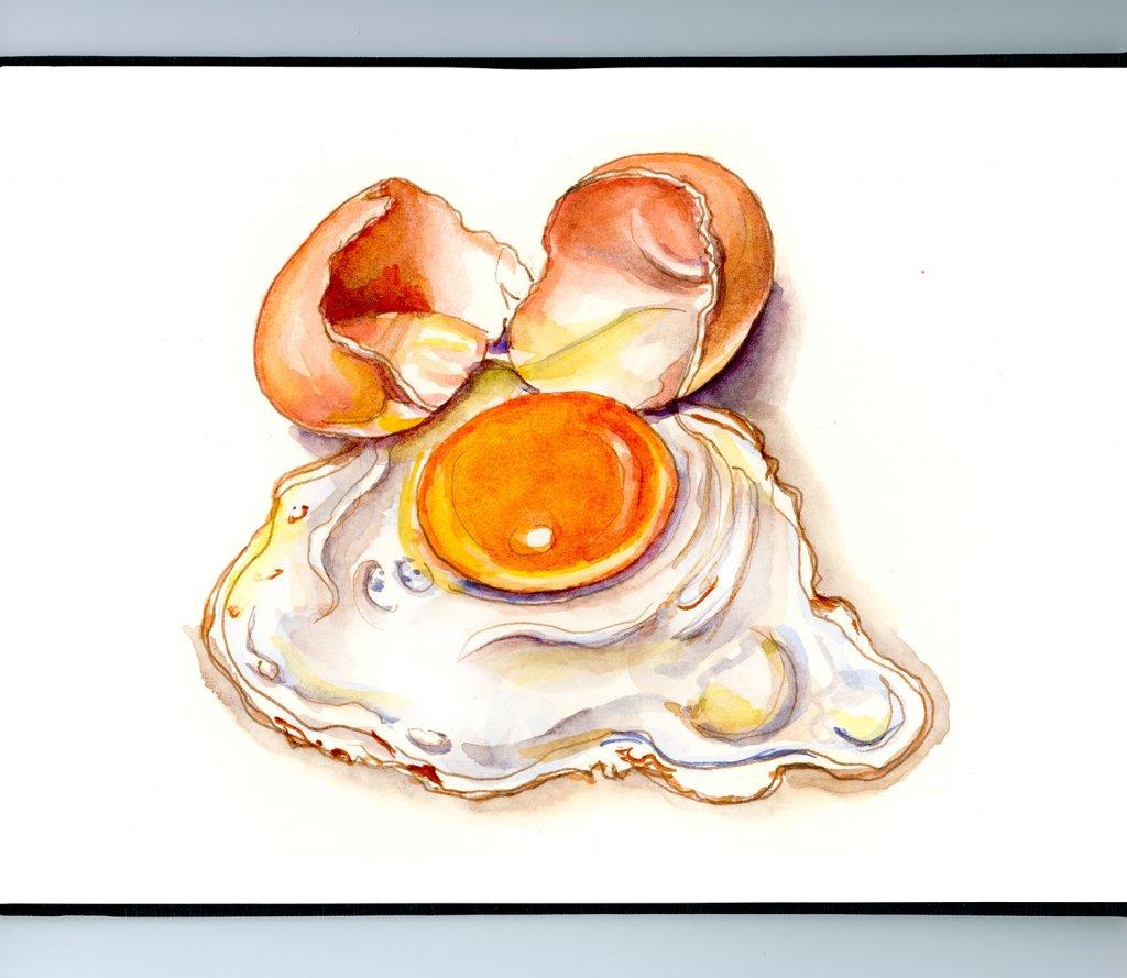 Day 3 - Frying An Egg On The Sidewalk Illustration_IG