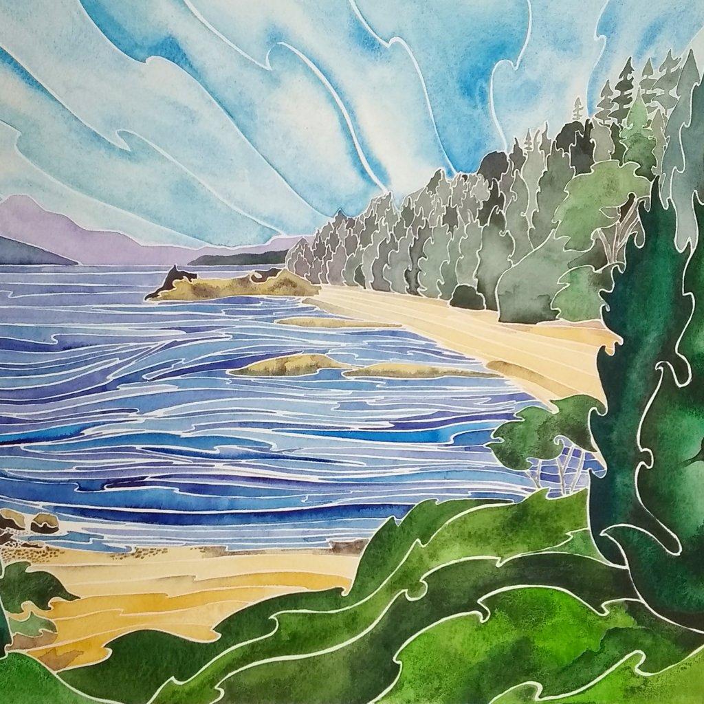 Sanctuary (Bamfield, BC). Daniel Smith watercolour on Fabriano Artistico. 11 X 14 IMG_20190510_06431