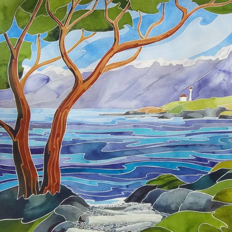 Trial Island. Daniel Smith watercolour on Fabriano Artistico 16 x 20 IMG_20190605_072126_118