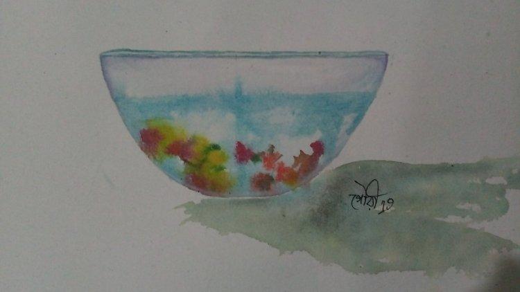 Day20 Underwater #flowersSinkinginthewater #doodlewashJune2019 #WorldWatercolorGro IMG_20190620_1956