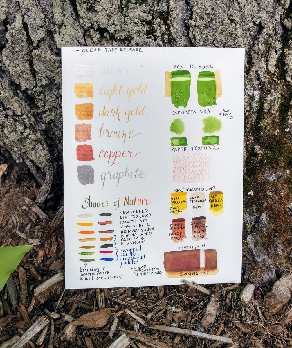 Watercolour Swatch Samples