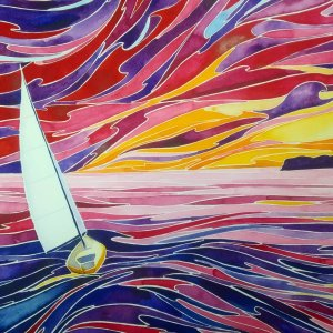 Beneath a Setting Sun- Daniel Smith on Fabriano, 11″ x 14″ IMG_20190627_083831_614
