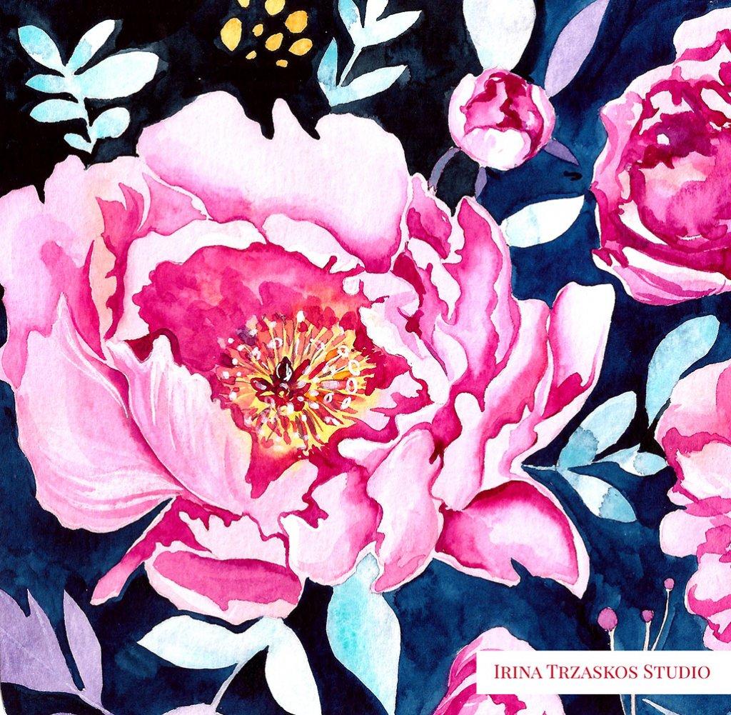 Flowers Watercolor Painting by Irina Trzaskos - Doodlewash