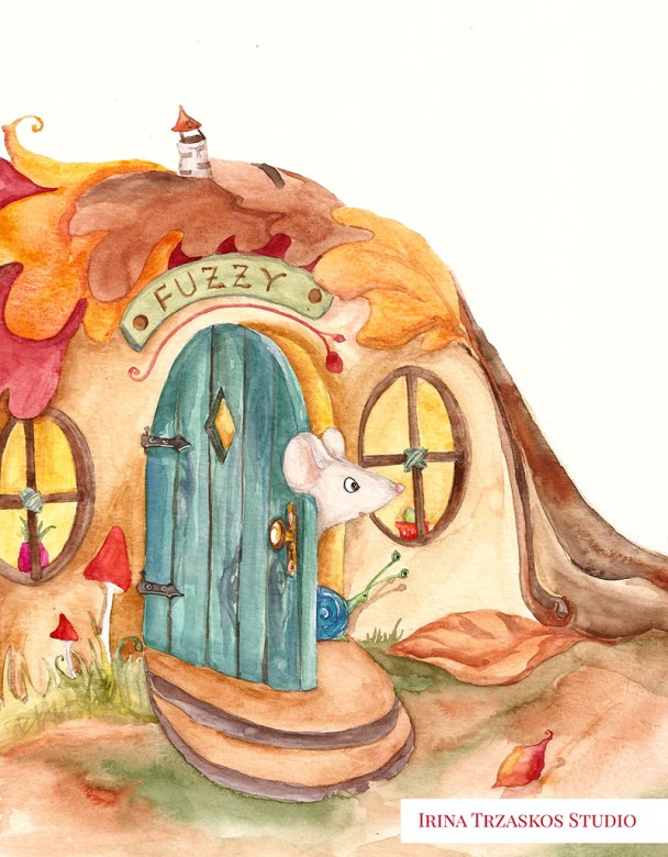 Mouse Children's Book Watercolor Illustration by Irina Trzaskos - Doodlewash