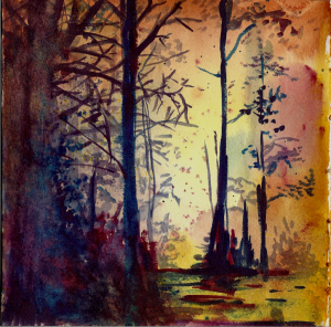 Prompt Sunset. I was frantically searching for some art supplies, and found this old artwork that I