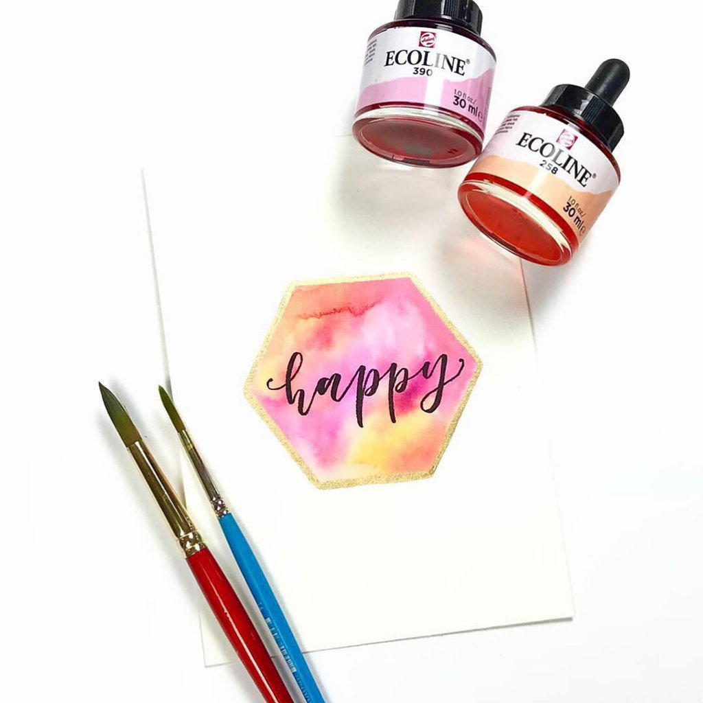 Shelly Kim Watercolor Lettering - Letters by Shell - Doodlewash