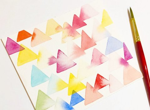 Geometric Design - Shelly Kim Watercolor Lettering - Letters by Shell - Doodlewash