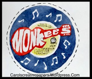 Music, 1970s cereal box 45 rpm record #worldwatercolormonth2019 44160619-CCBE-4D78-89F2-DF14BFCDD093