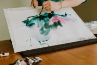 Watercolor Painting Demonstration by Angela Fehr