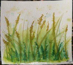 #worldwatercolor day 29 Glorious green. This was going really well and then it wasn't. Haaahaa