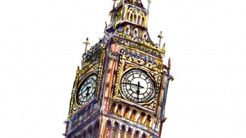 Big Ben Watercolor Illustration