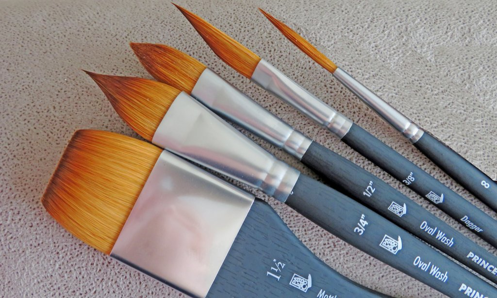 Princeton Aqua Elite Specialty Shape Brushes