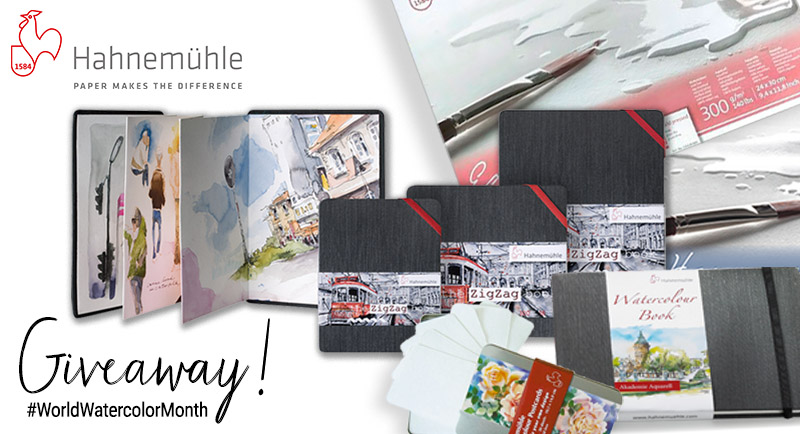 Hahnemühle World Watercolor Month Prize Sharing Graphic