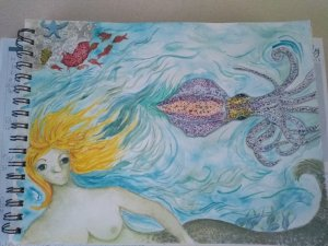 Day 10 -Ocean creatures. This is one of the paintings I'm submitting to the summer exhibition