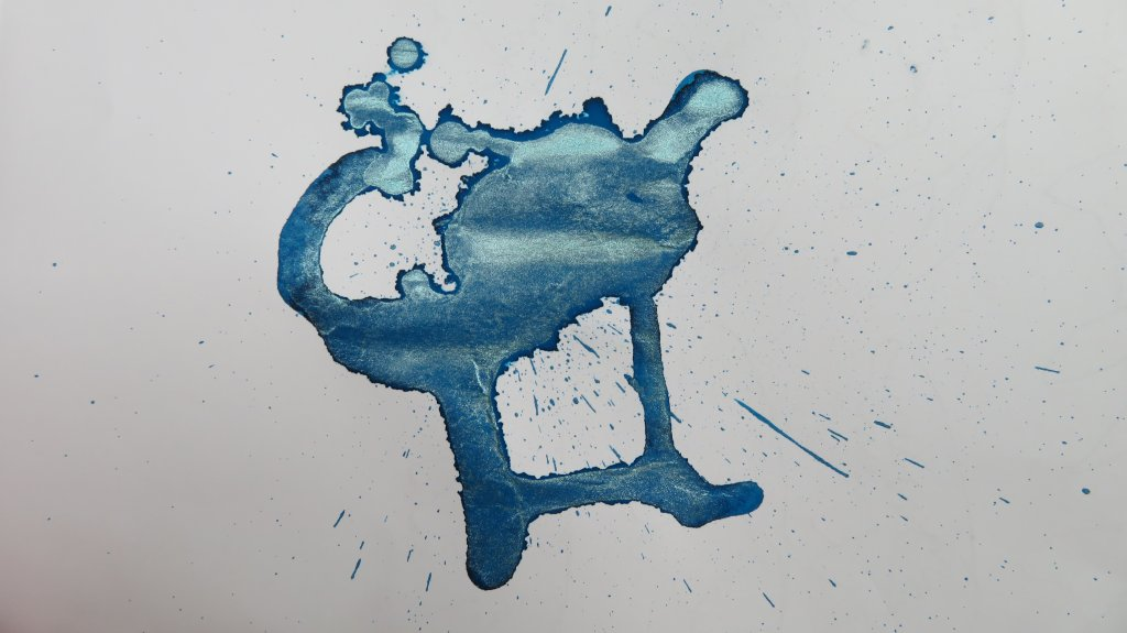 Kyanite du Népal Ink Test Swatch On Paper