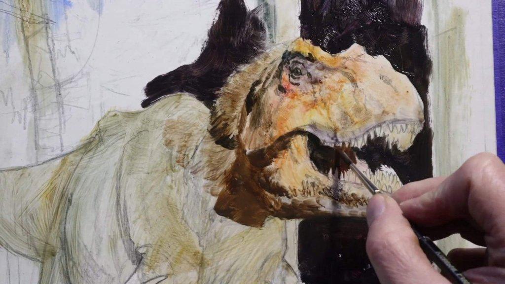Sketching Dinosaurs James Gurney